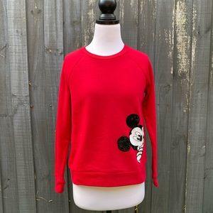 Disney Mickey Mouse red sweatshirt jumper XS